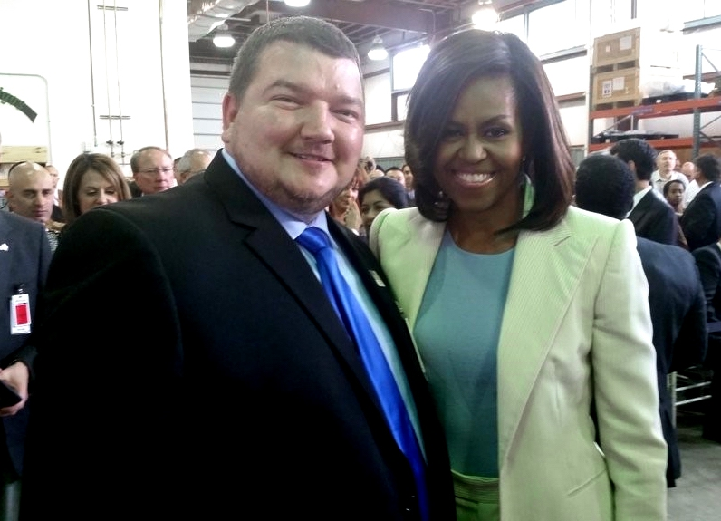 Field Service Engineer and Veteran Frank Reichert (Shown at left with First Lady Michelle Obama at the Joining Forces event.)