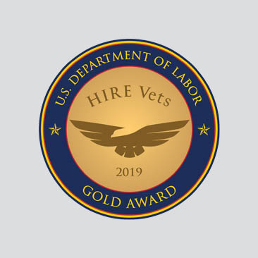HIRE Vets Gold Medallion for Commitment to Hiring Veterans